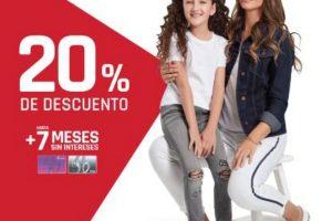 Suburbia 20% de descuento + 7 msi en Jeans para toda la Familia