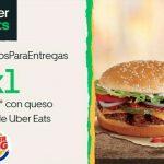 Burger King - Día de la Hamburguesa 2020 / 2x1 en Whopper con Uber Eats
