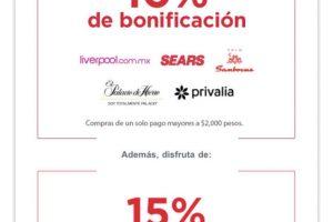Banorte: 10% de Bonificación en Liverpool, Sears, Sanborns y más