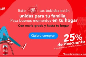 Promoción Coca-Cola Hot Sale 2020: 25% de descuento + envió gratis