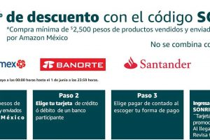 Cupón Amazon Hot Sale 2020: 10% de descuento en santander, hsbc, banorte y citibanamex