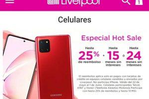 Promoción Liverpool Hot Sale 2020: Hasta 25% de reembolso en celulares