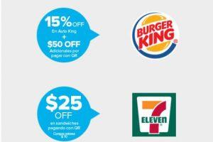 Mercado Pago: Promociones en Burguer King, McDonalds, 7 Eleven y Farmacias Benavides
