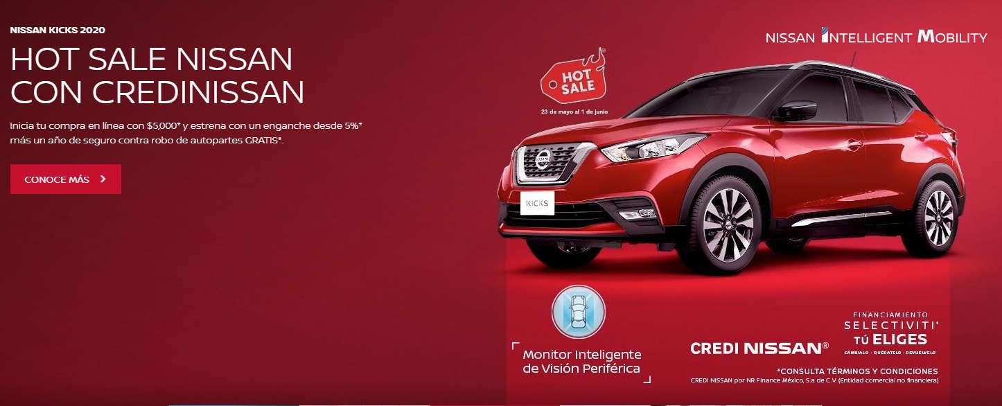Nissan – Hot Sale 2020 / Mensualidades gratis y paga hasta diciembre