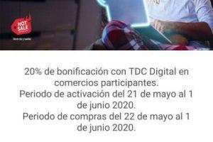 Santander Hot Sale 2020: 20% de bonificación con tarjeta de crédito digital