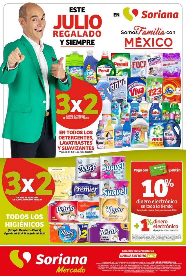 Soriana Mercado – Folleto Julio Regalado del 12 al 18 de junio 2020