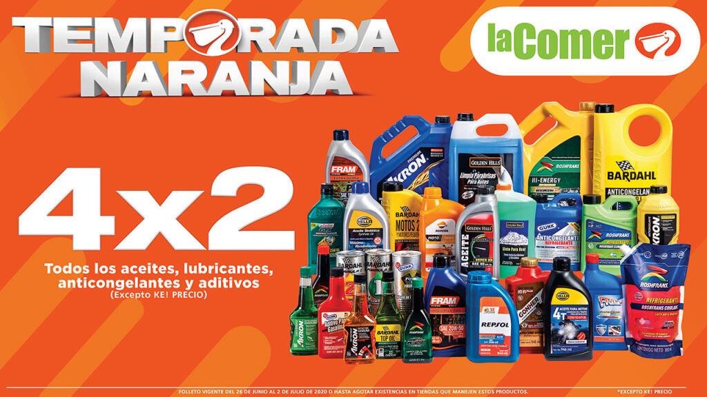 Temporada Naranja 2020: 4×2 en todos los aceites, lubricantes, anticongelante y aditivos