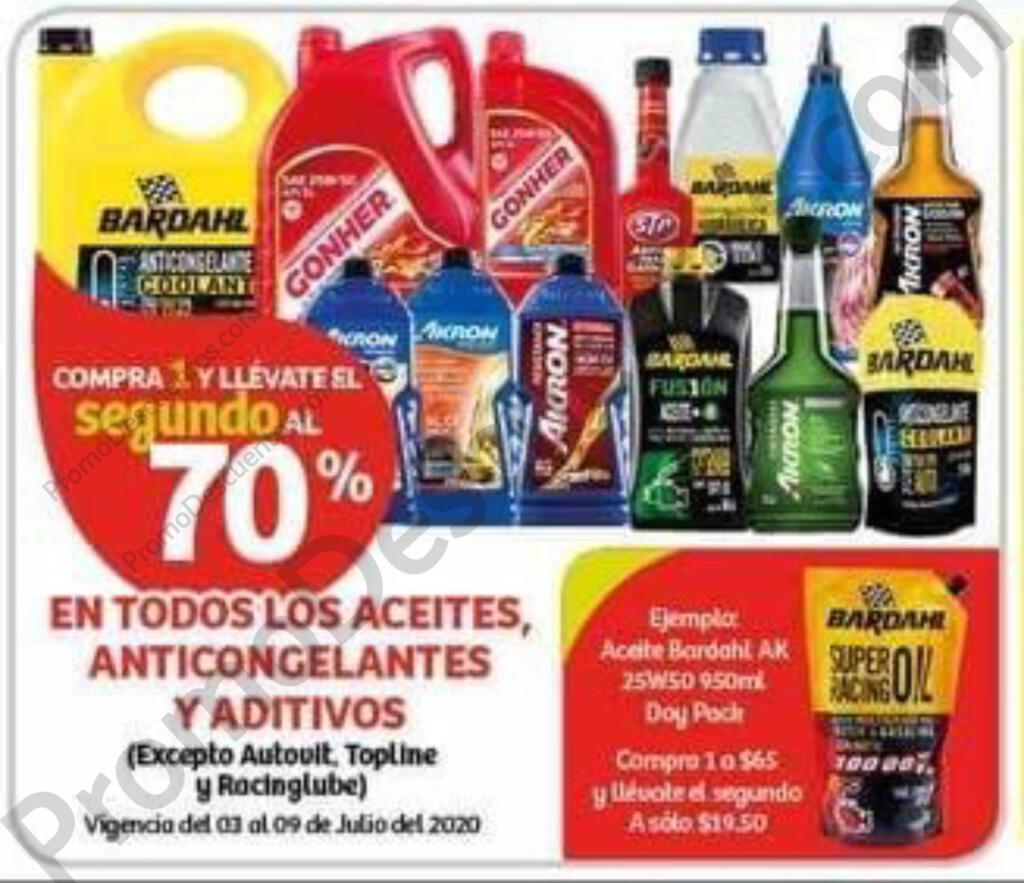Julio Regalado 2020: Segundo al 70% en Aceites, Anticongelantes y Aditivos
