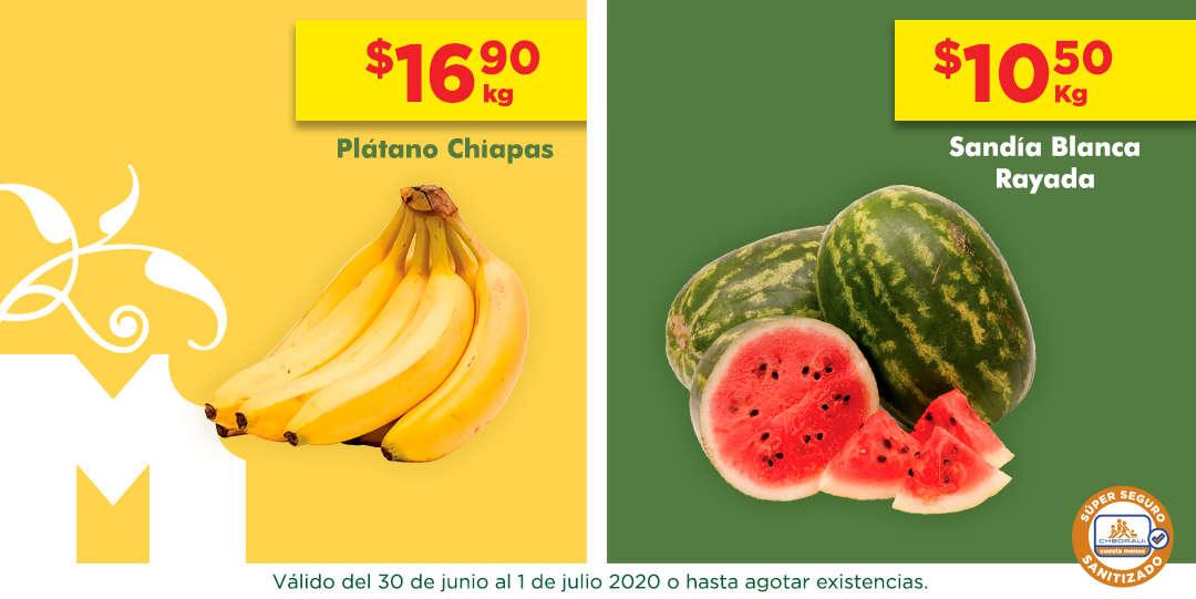 Frutas y Verduras Chedraui 30 de junio y 1 de julio 2020