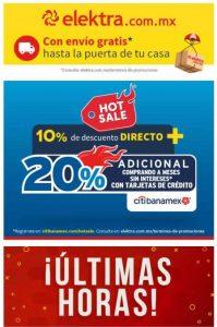 Hot Sale Elektra: 10% descuento directo + 20% adicional con CitiBanamex