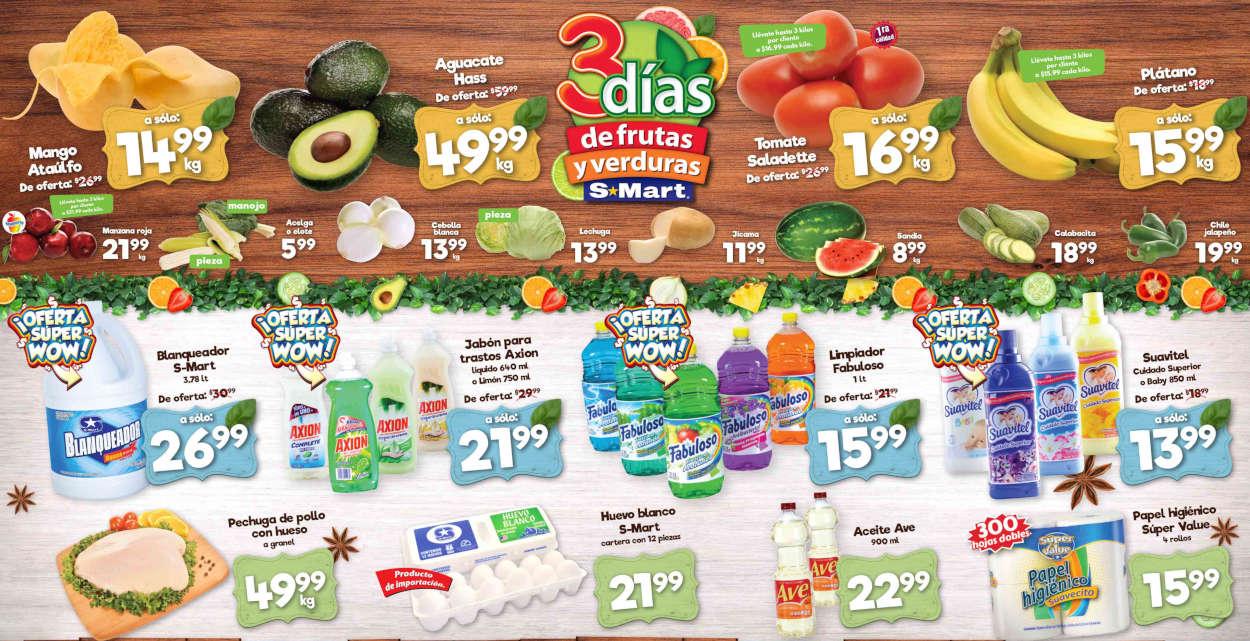 Folleto S-Mart frutas y verduras del 30 de junio al 2 de julio de 2020