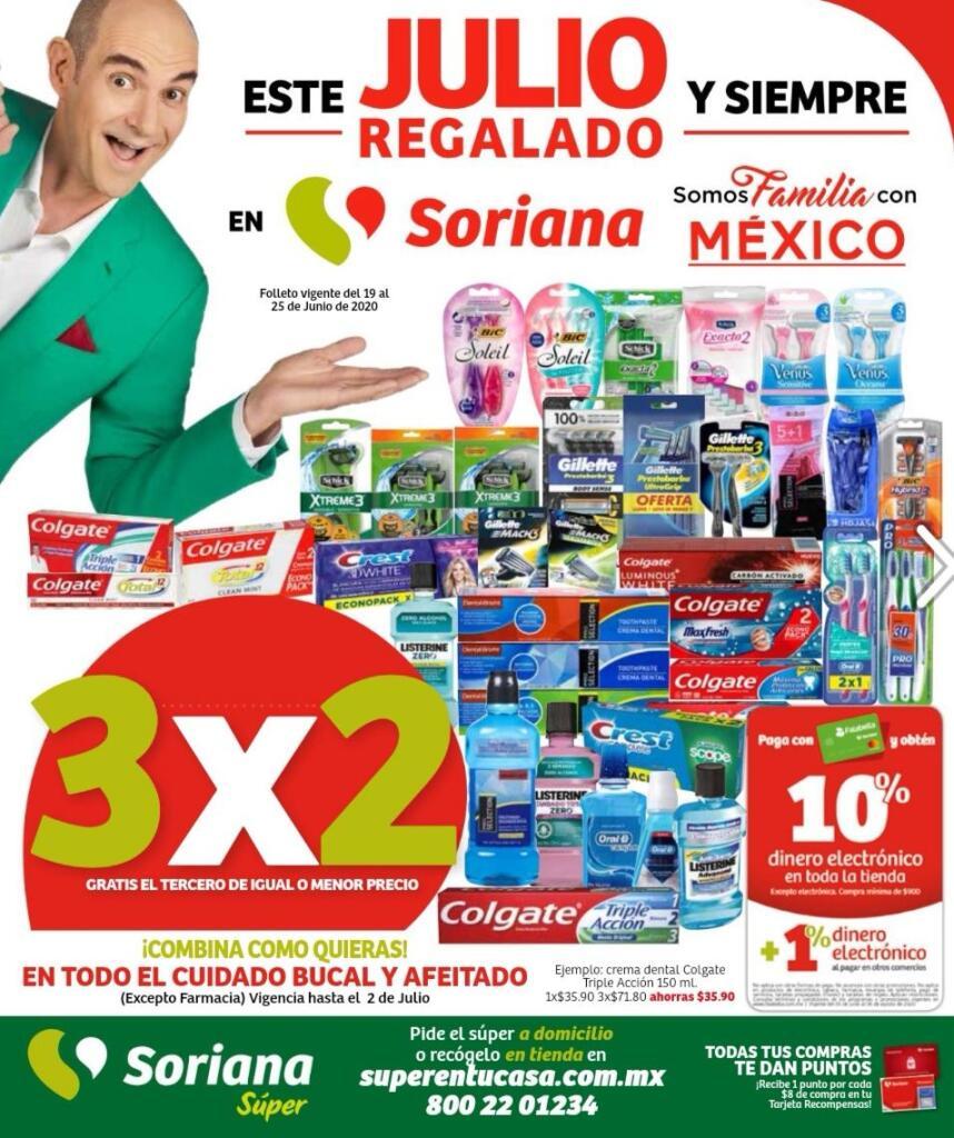 Soriana Super – Folleto Julio Regalado del 19 al 25 de junio de 2020