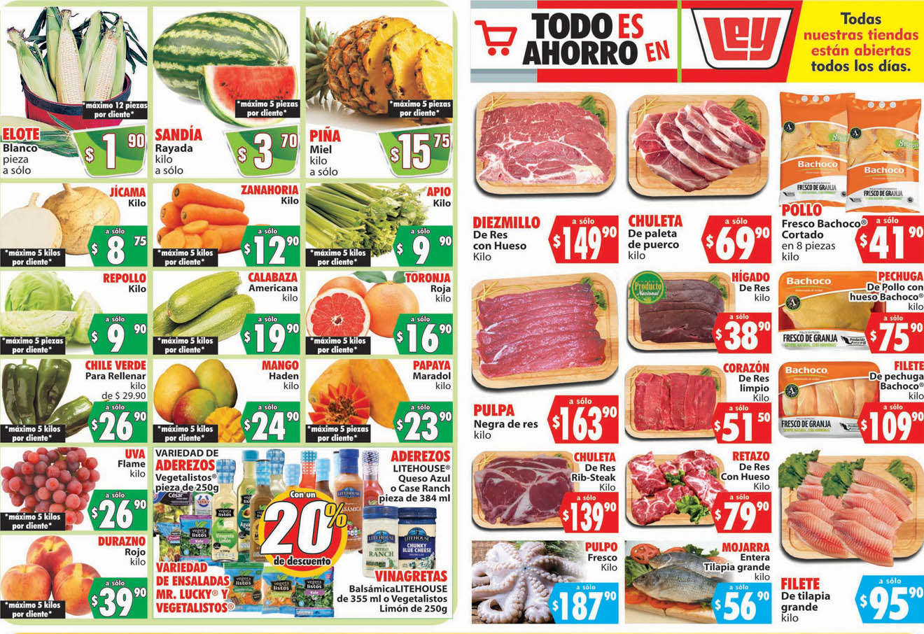 Folleto Casa Ley Frutas y verduras 23 y 24 de junio 2020