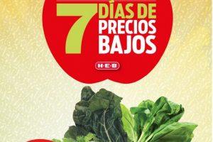 Folleto HEB frutas y verduras del 30 de junio al 6 de julio de 2020