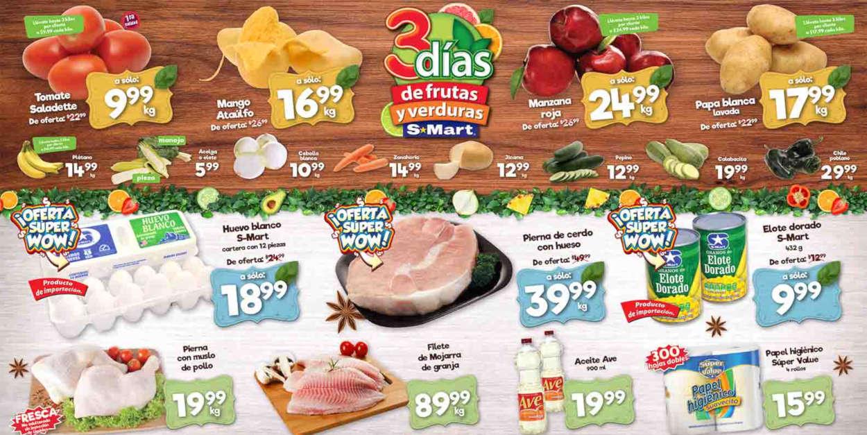 Folleto S-Mart frutas y verduras del 16 al 18 de junio de 2020
