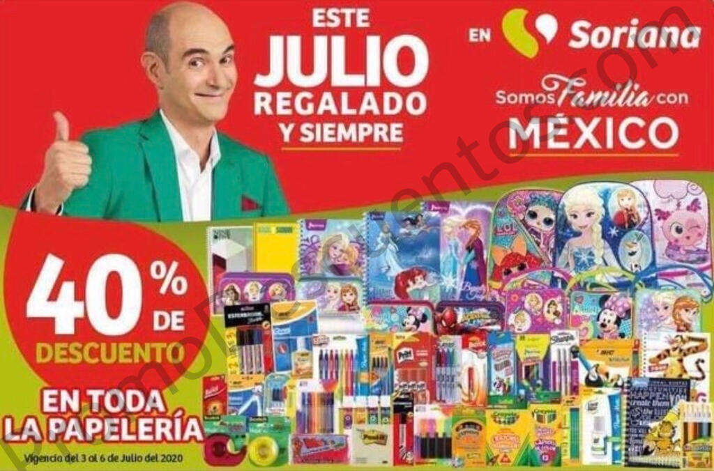 Julio Regalado 2020: 40% en toda la Papelería