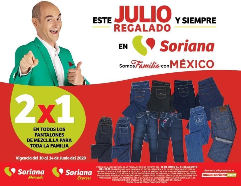 Julio Regalado 2020: 2×1 en Pantalones de Mezclilla para toda la Familia