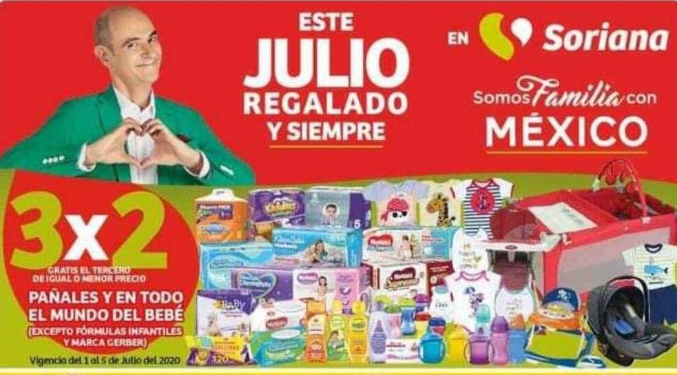 Soriana Julio Regalado 2020: 3×2 en pañales y todo para bebés