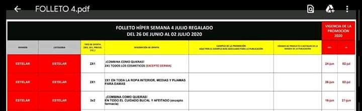 Julio Regalado 2020: 2×1 en Ropa Interior, Medias y Pijamas para Dama