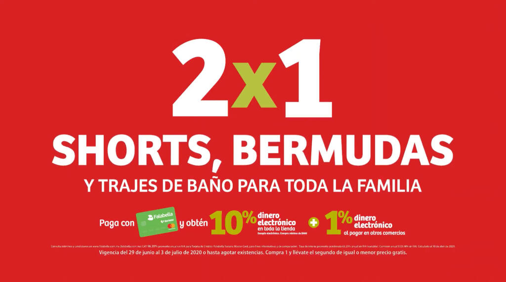 Julio Regalado 2020: 2×1 en shorts, bermudas y traje de baño para toda la Familia