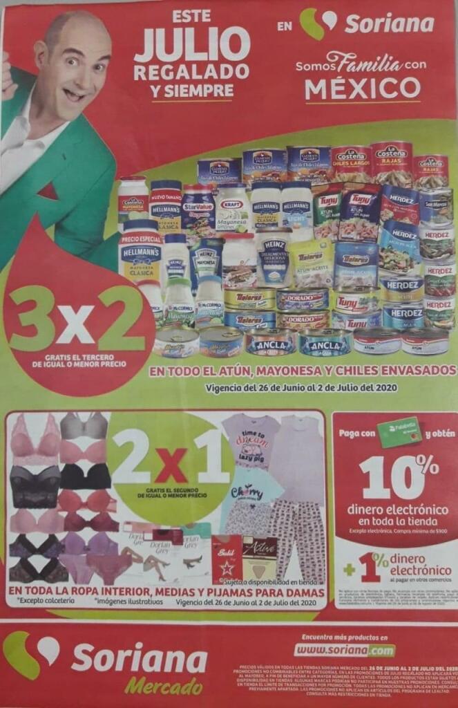 Soriana Mercado y Express – Folleto Julio Regalado del 26 de junio al 2 de julio 2020