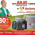 Soriana - Julio Regalado 2020 / 30% de descuento en toda la Electrónica
