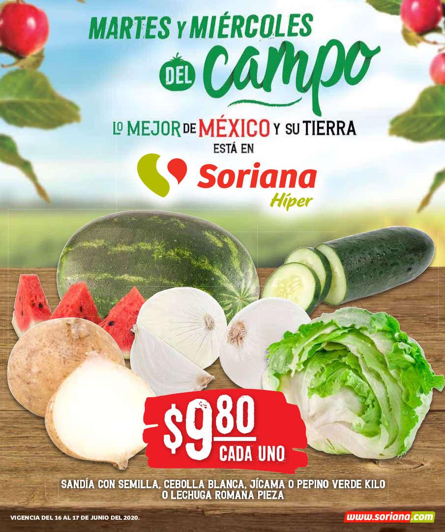 Folleto Soriana Martes y Miércoles del Campo 16 y 17 de junio 2020