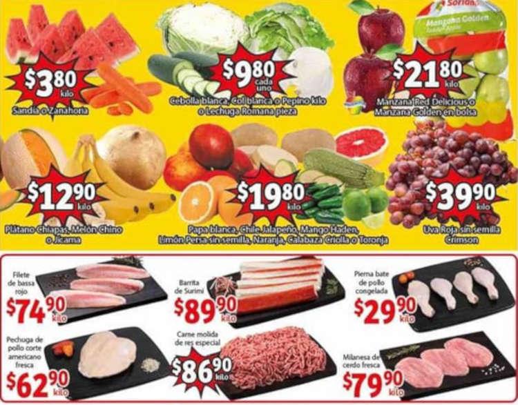 Folleto Soriana Mercado Frutas y Verduras del 23 al 25 de junio 2020