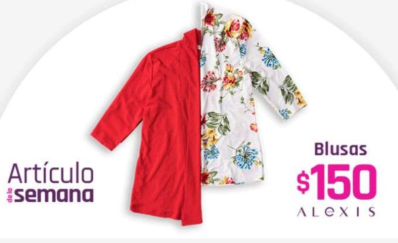 Artículo de la semana Suburbia  del 22 al 28 de junio: Blusas Alexis a $150