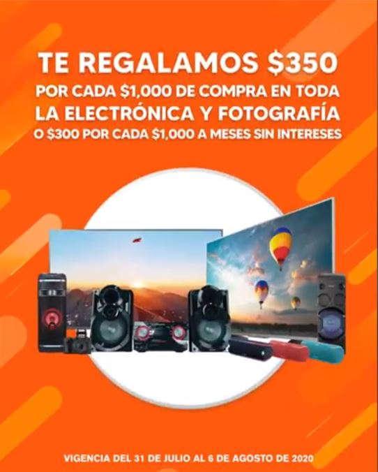 Temporada Naranja 2020: $350 de descuento en Electrónica y Fotografía