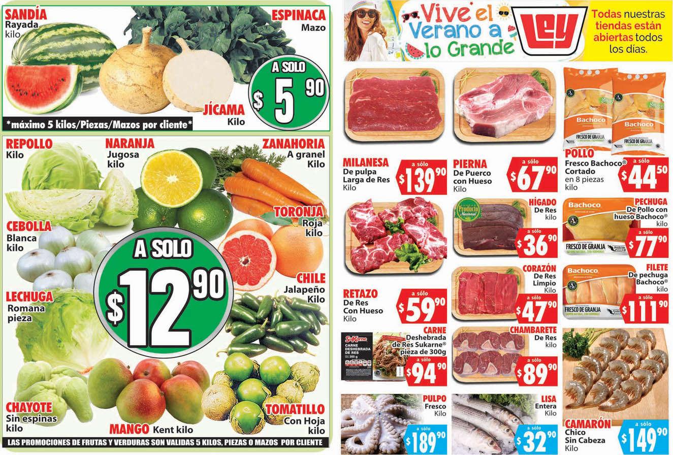 Folleto Casa Ley  Frutas y Verduras 28 y 29 de julio de 2020