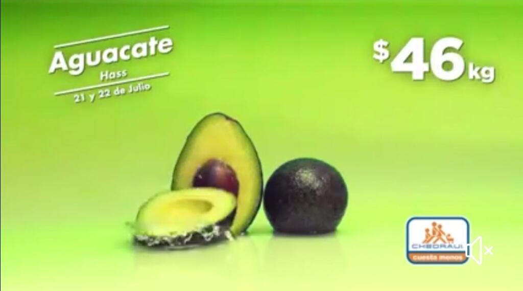Frutas y Verduras Chedraui 21 y 22 de julio 2020