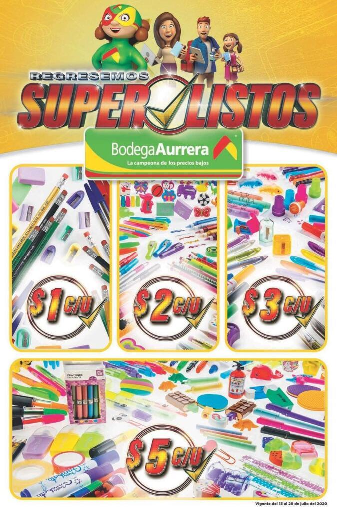 Bodega Aurrerá – Folleto de ofertas Super Listos del 15 al 29 de julio 2020