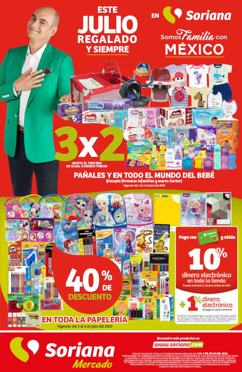 Soriana Mercado – Folleto Julio Regalado 2020 del 3 al 9 de julio