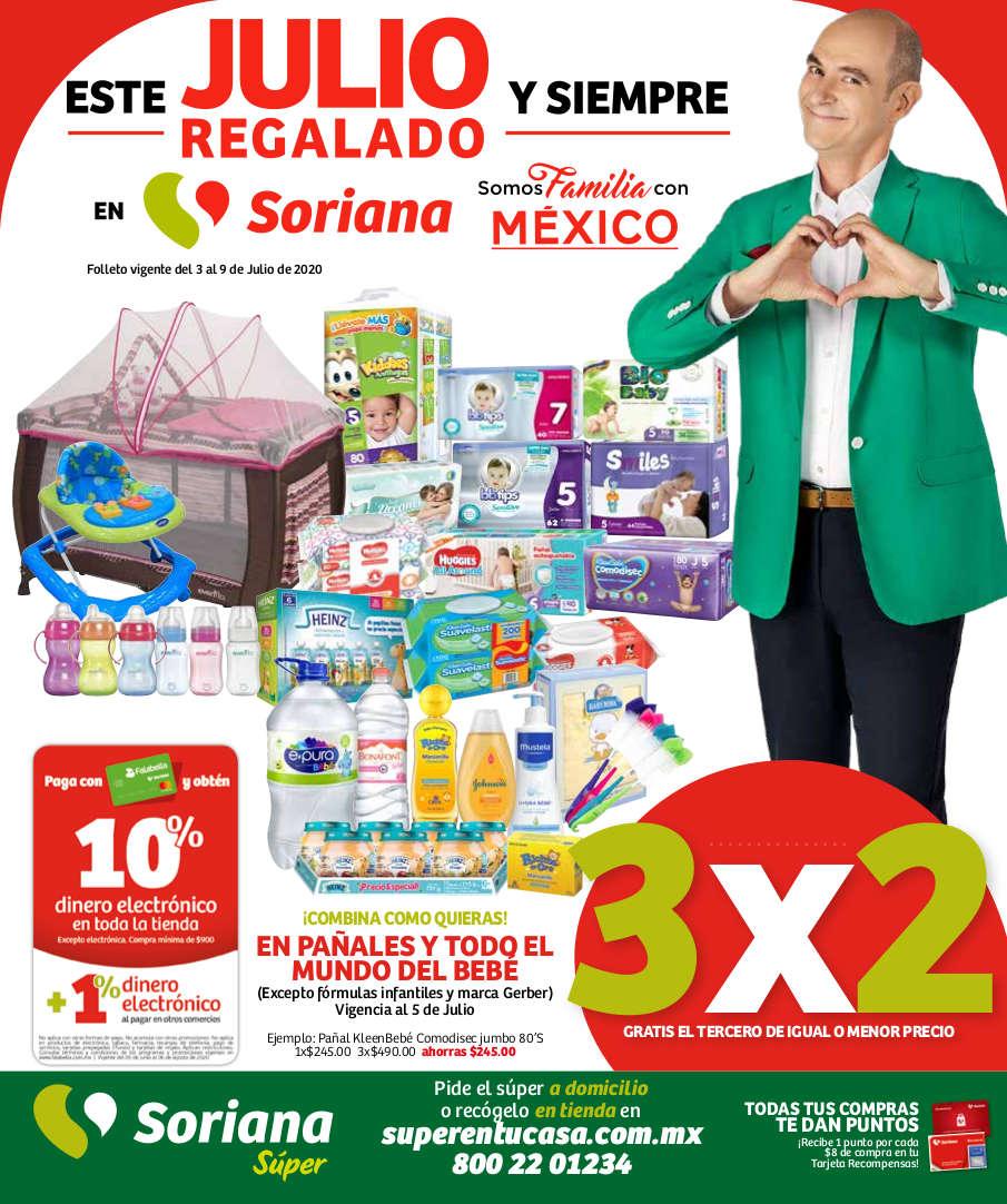 Soriana Híper – Folleto Julio Regalado 2020 del 3 al 9 de julio