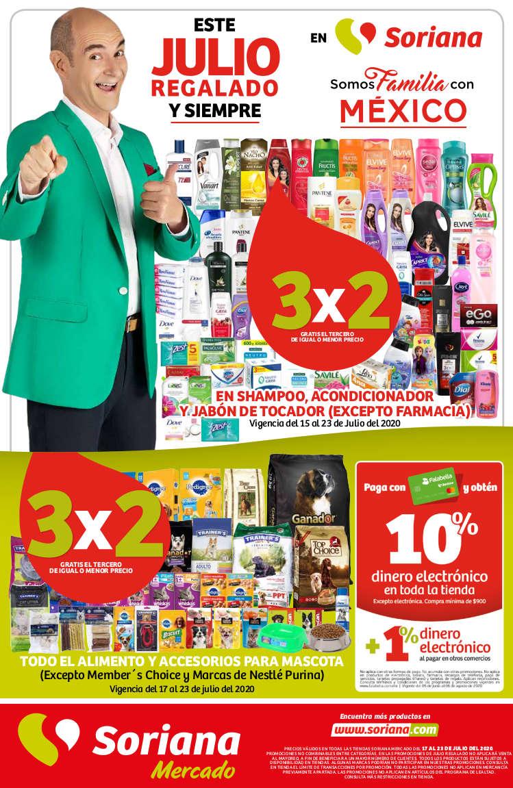 Julio Regalado 2020 Folleto Soriana Mercado del 17 al 23 de julio