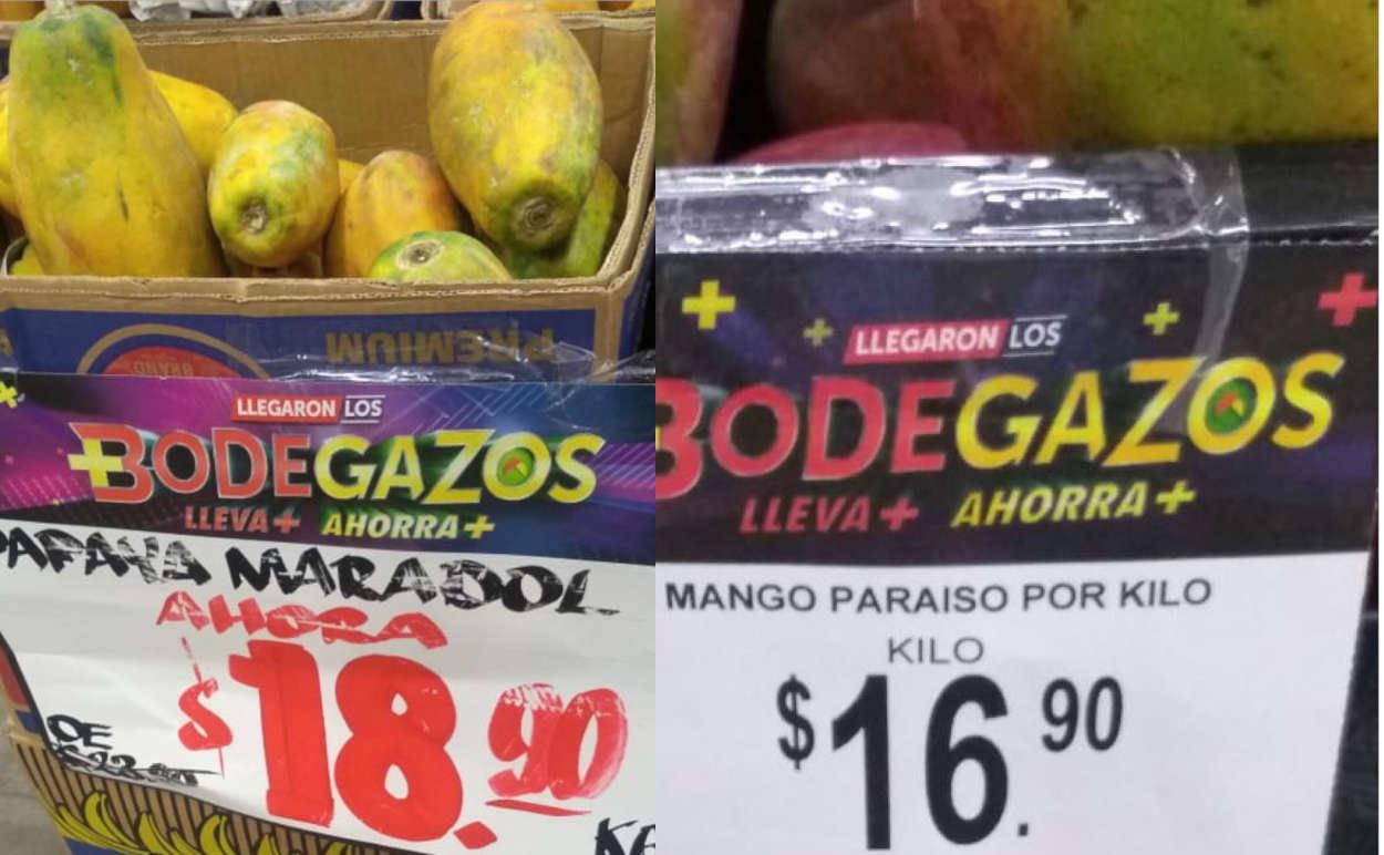 Folleto Bodega Aurrerá frutas y verduras Tianguis de Mamá Lucha 5 al 9 de julio 2020
