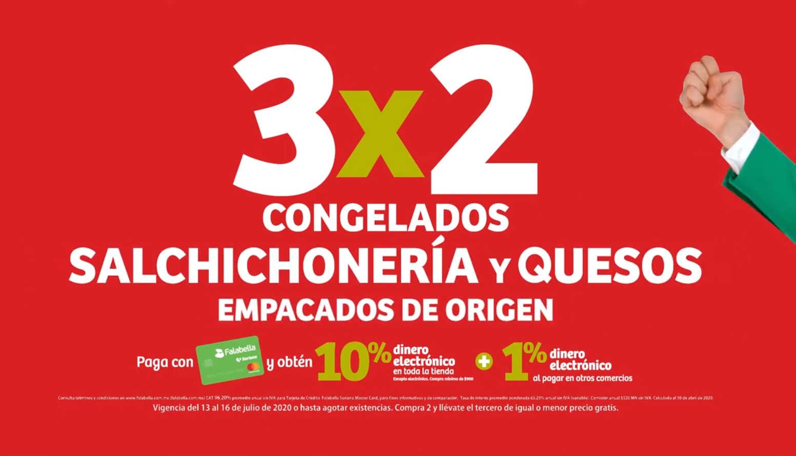 Julio Regalado 2020: 3×2 en congelados, salchichonería y quesos