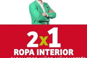 Julio Regalado 2020: 2×1 en ropa interior para caballeros, niños y bebés