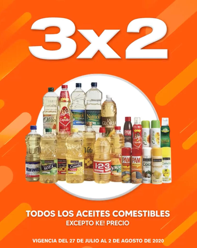 La Comer Temporada Naranja 2020: 3×2 en aceites comestibles