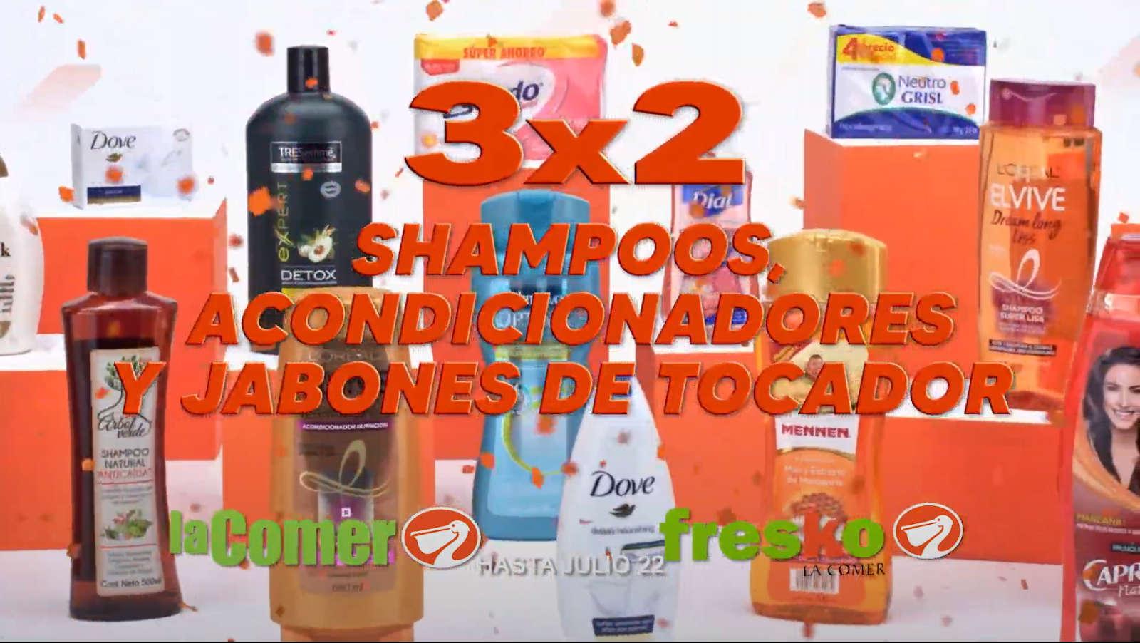 La Comer Temporada Naranja 2020: 3×2 en shampoos, acondicionadores y jabones de tocador