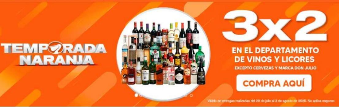 La Comer Temporada Naranja 2020: 3×2 en vinos y licores del 29 de julio al 3 de agosto