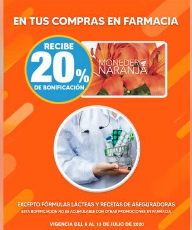 Temporada Naranja 2020 en La Comer: 20% de bonificación en toda la farmacia