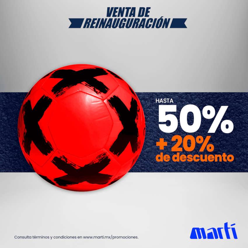 Martí – Segundas Rebajas de hasta 50% de descuento + 20% adicional
