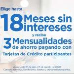 Sams Club: 18 meses sin intereses + 3 de bonificación del 31 de julio al 3 de agosto 2020