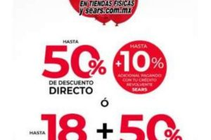 Gran Venta de Sears Hasta 50% de descuento + 18 meses sin intereses del 23 al 27 de julio