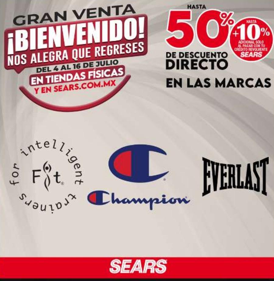 Gran Venta Sears bienvenido hasta 50% de descuento directo y meses sin intereses
