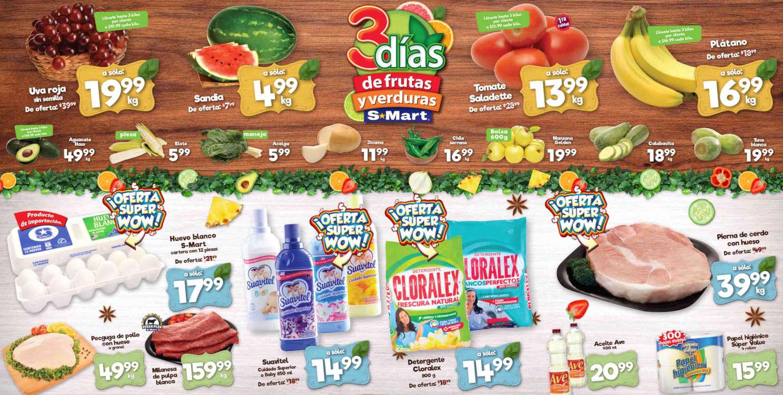Folleto S-Mart frutas y verduras del 28 al 30 de julio de 2020
