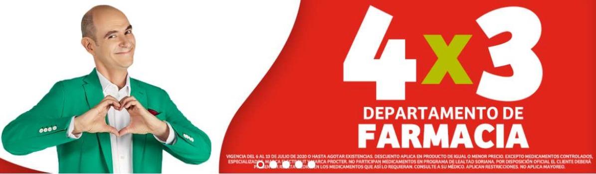Julio Regalado 2020 en Soriana  4×3 toda la Farmacia