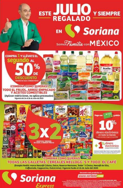 Folleto de Ofertas Julio Regalado 2020 en Soriana Express del 24 al 30 de julio